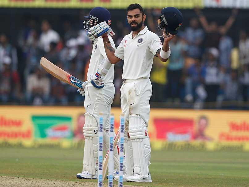 इंदौर टेस्ट : पहले दिन विराट कोहली ने लगाया अपने करियर का 13वें टेस्ट 10