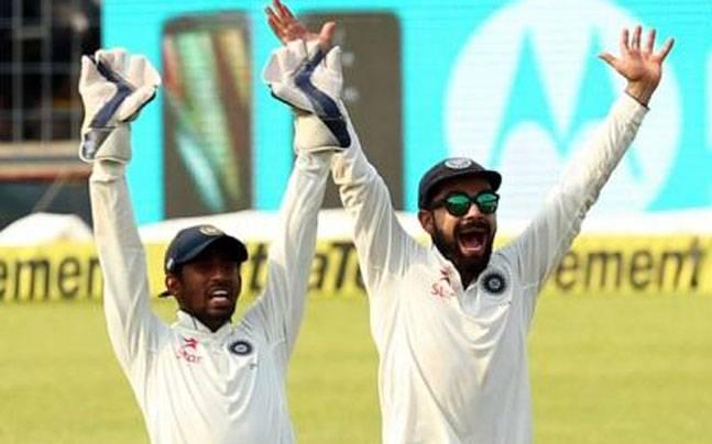 विडियो: साहा के कैच छोड़ने के बाद भारतीय कप्तान को फिर आया गुस्सा, देखे प्रतिक्रिया