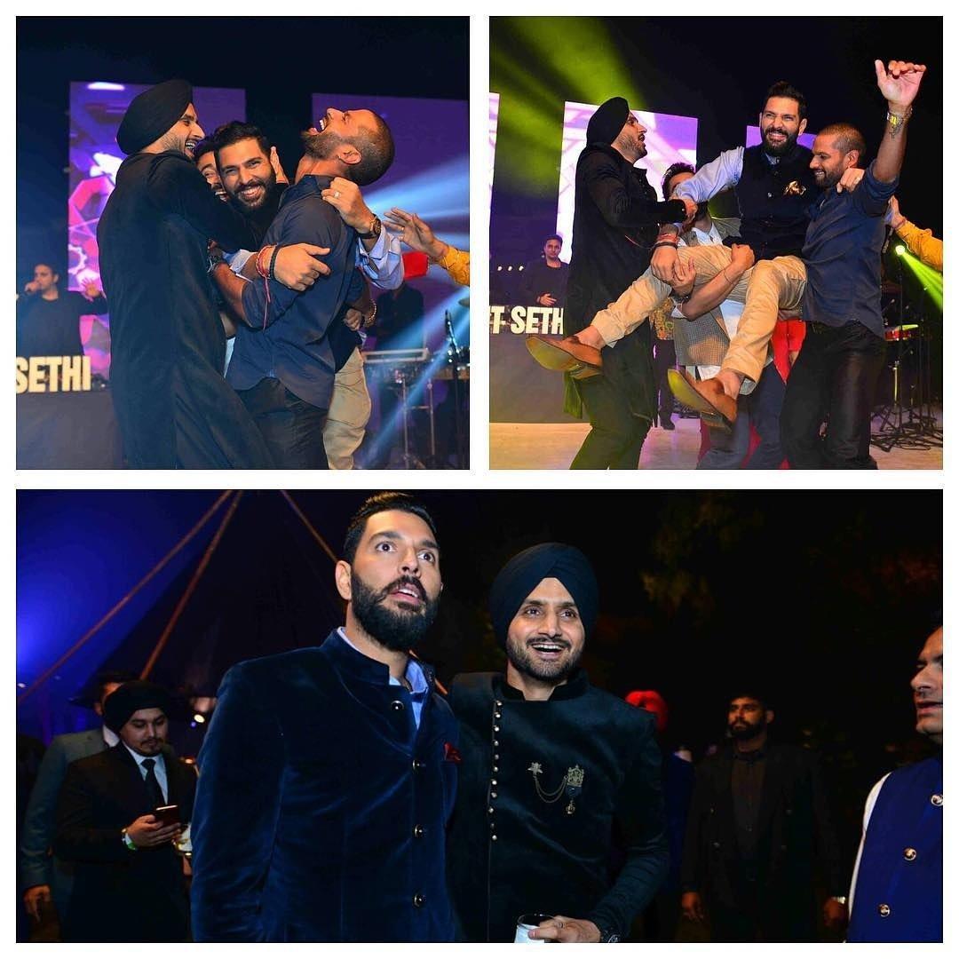 दिल्ली में हुआ युवराज और हेजल का संगीत समारोह सचिन, हरभजन हुए शामिल