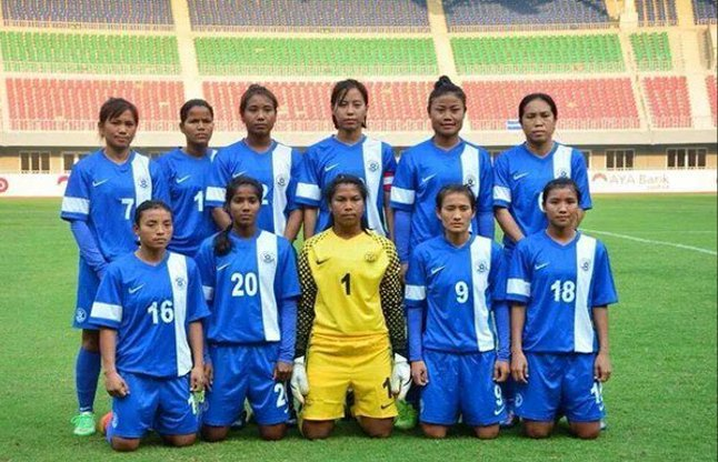 सैफ चैम्पियनशिप जीतने वाली भारतीय महिला फुटबाल टीम पुरस्कृत