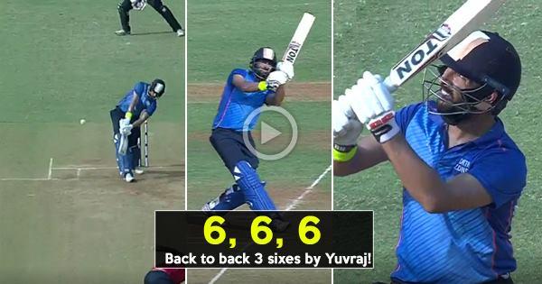 विडियो: ऑस्ट्रेलिया के खिलाफ भारतीय टीम में जगह न मिलने के बाद आज युवराज ने मैदान पर उतरते ही लगाये एक ओवर में 3 छक्के
