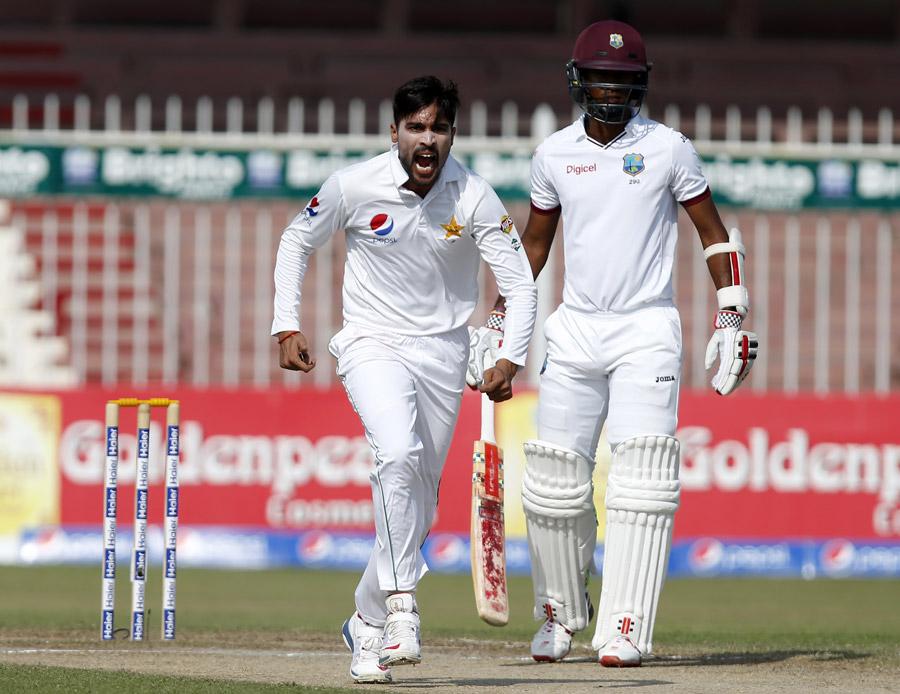 किंग्सटन टेस्ट : बारिश के दखल के कारण दूसरे दिन हुआ मात्र 11 ओवर का खेल, लेकिन फिर भी मोहम्मद आमिर ने  रचा इतिहास
