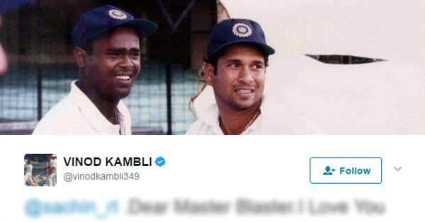 'सचिन: अ बिलियन ड्रीम्स' देखने के बाद पहली बार बोले विनोद कांबली, ट्वीट कर कही एक बड़ी बात