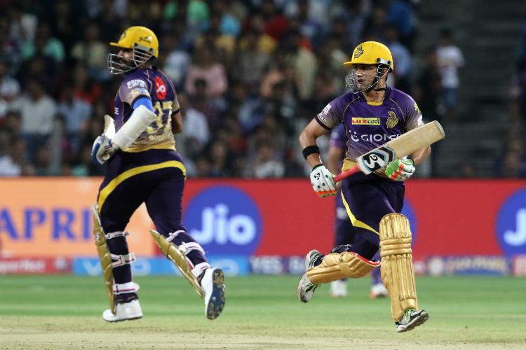 गंभीर ने खुदके और उथप्पा के विकेट को बताया मैच में हार का बड़ा कारण