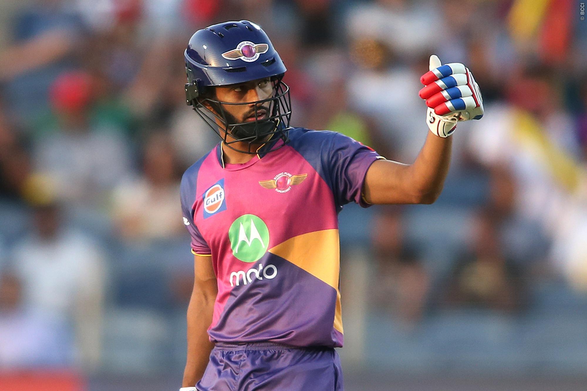 आईपीएल टीम पुणे सुपरजायंट के स्टार ओपनर बल्लेबाज राहुल त्रिपाठी ने किया इस टीम से खेलने का फैसला 11
