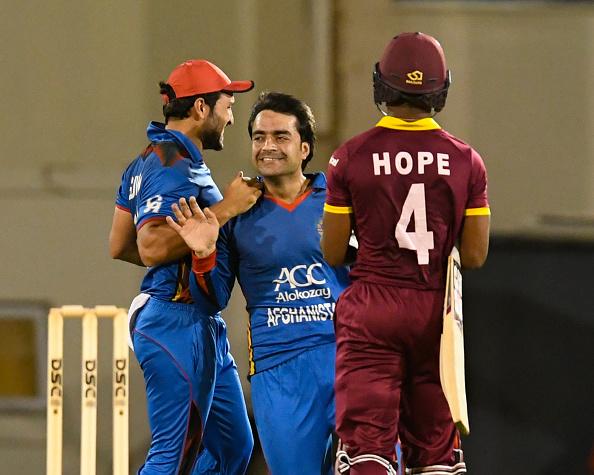 राशिद खान के सामने एक बार फिर घुटने टेकते नजर आये वेस्टइंडीज के बल्लेबाज