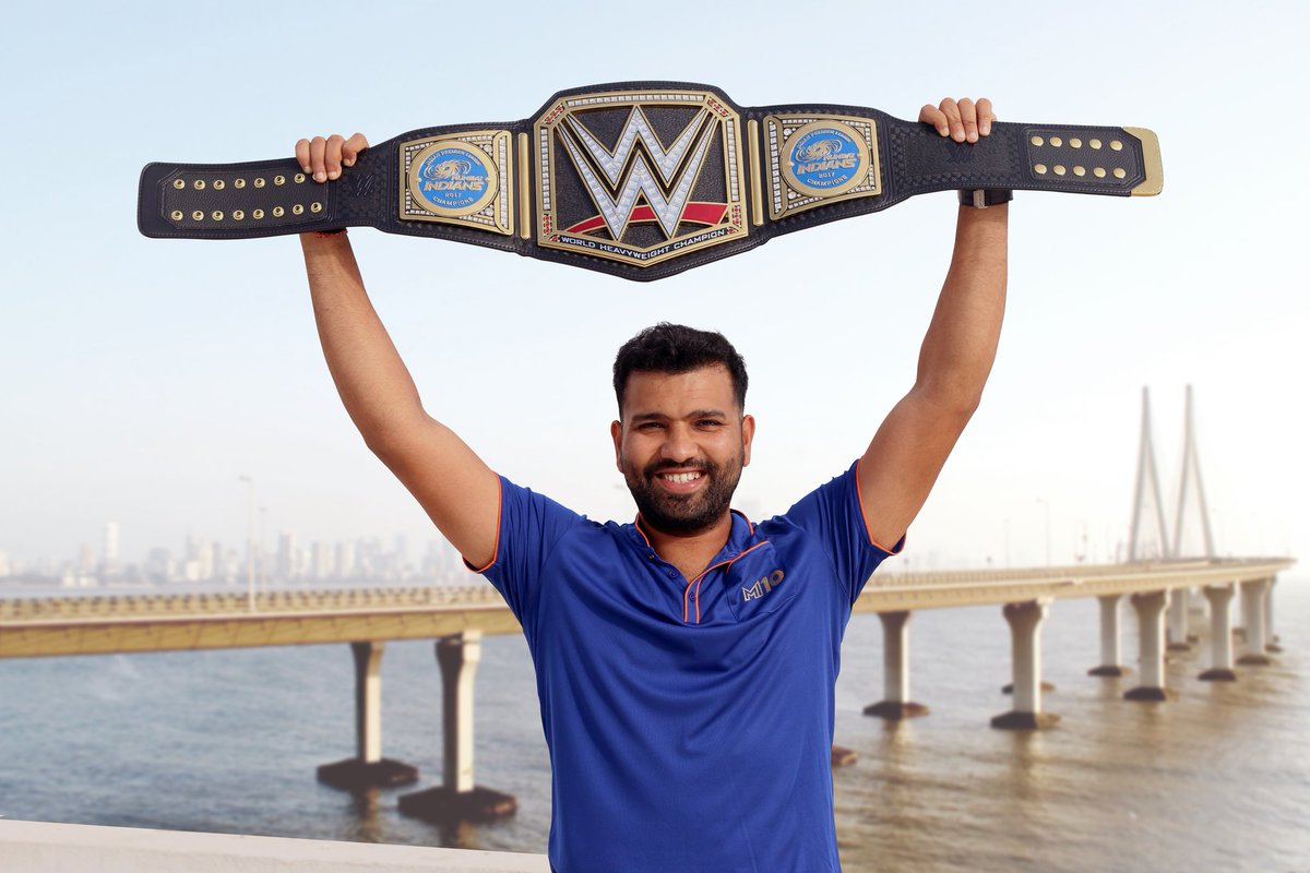 ट्रिपल एच ने भेजी थी मुंबई इंडियंस को WWE बेल्ट और अब मुंबई इंडियंस ने दिया WWE को रिटर्न गिफ्ट