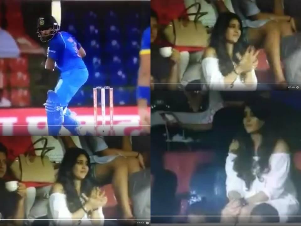 वीडियो: रोहित शर्मा ने लगाया लगातार 2 छक्के पत्नी रितिका ने दर्शक दीर्घा से रोहित को दिया कुछ ऐसा रिएक्शन