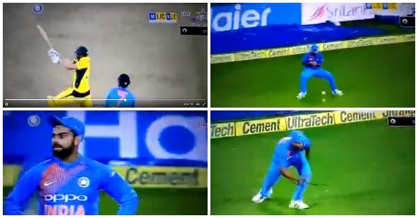 VIDEO: 14.6वें ओवर में भुवी कर गये कुछ ऐसा कि कप्तान विराट कोहली ने कैमरे के सामने ही दिखाया अपना गुस्सा 83
