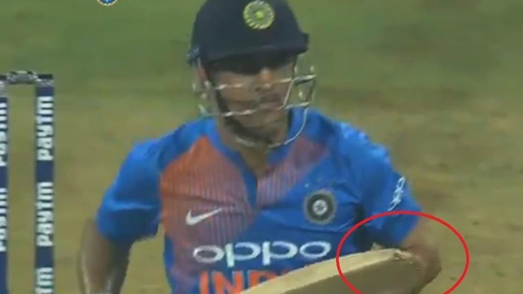वीडियो: धोनी ने टूटे बल्ले से दिलाया भारत को जीत, खुद बताया टूटने के बाद भी क्यों नहीं बदला बल्ला 1
