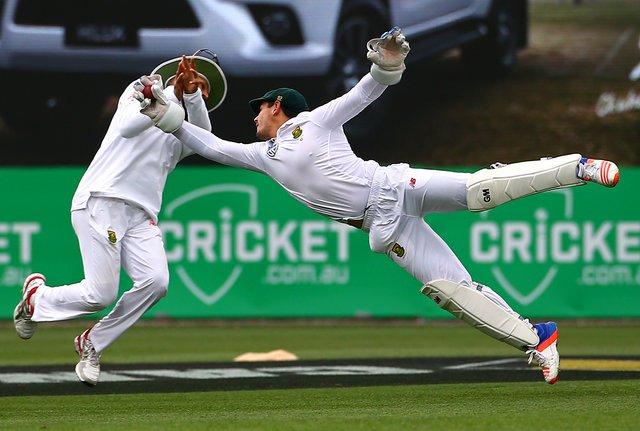 RECORDS: भारत-अफ्रीका टेस्ट मैच में विकेटकीपर डी कॉक ने बनाया बड़ा रिकॉर्ड, पूरा किया सैकड़ा 56