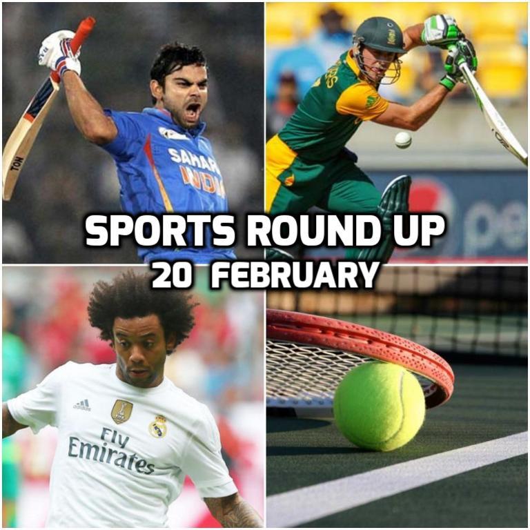स्पोर्ट्स राउंड अप: एक नजर में पढ़े 20 फरवरी 2018 की खेल जगत से जुड़ी हर एक बड़ी खबर