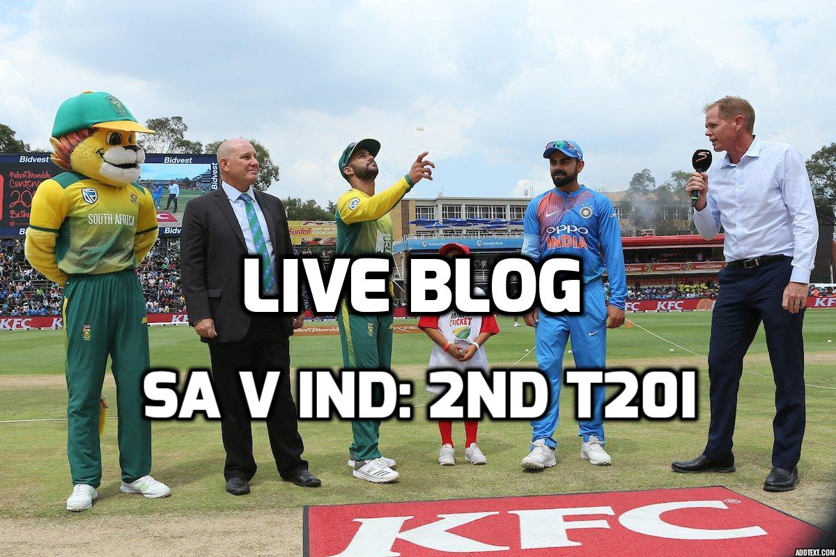 LIVE BLOG : 2nd T20I: SAvIND: सुपरस्पोर्ट्स पार्क, सेंचुरियन 52