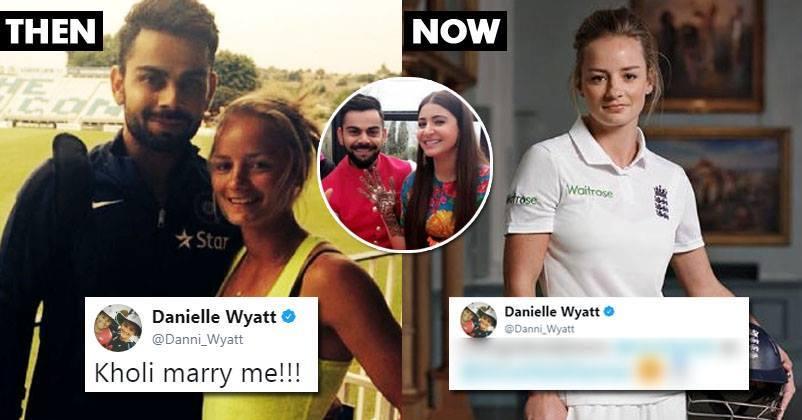 विराट कोहली के लिए एक बार फिर छल्का इंग्लैंड की महिला क्रिकेटर डेनियल वायट का प्यार, अब कहा कुछ ऐसा अनुष्का को हो सकती है जलन