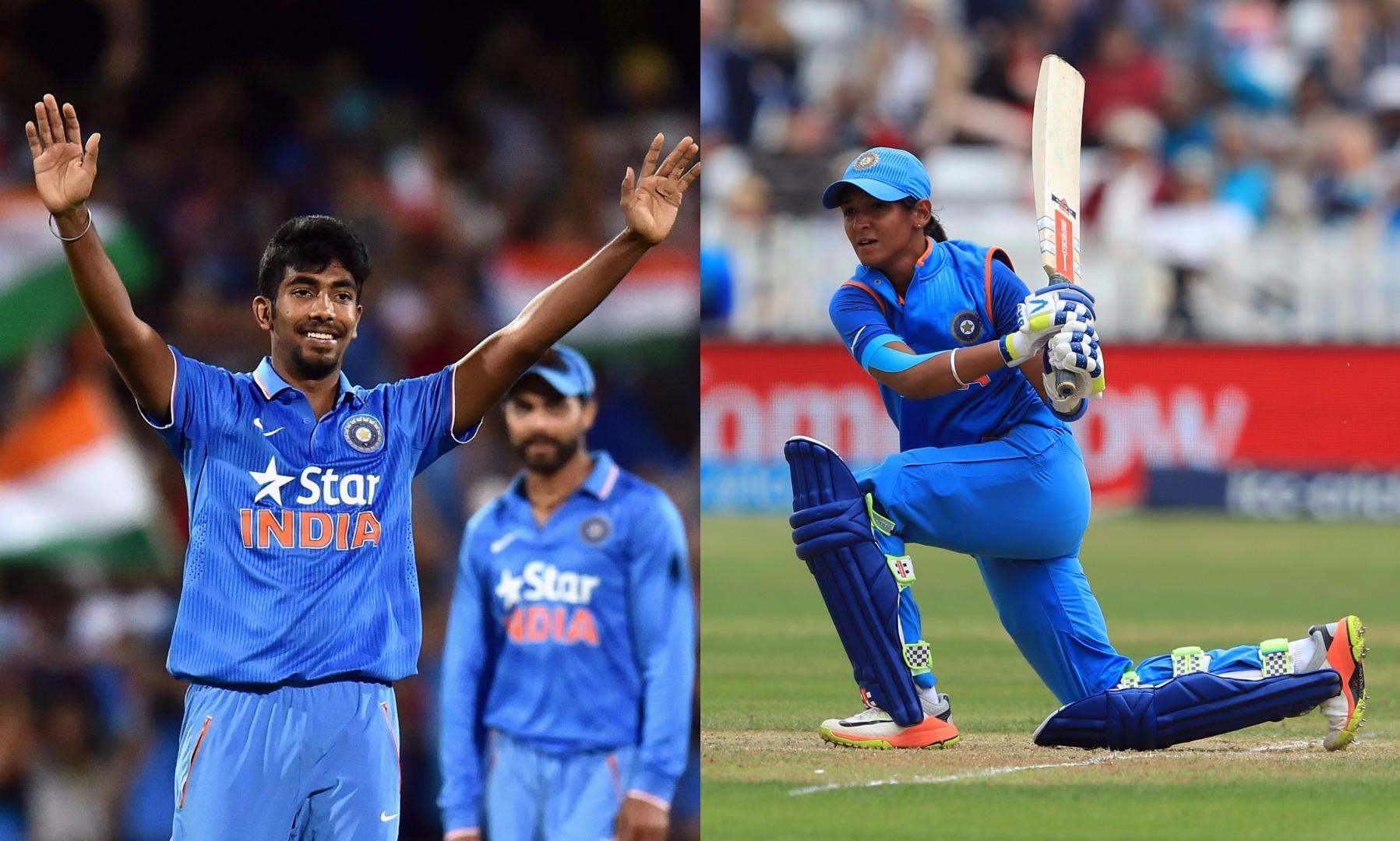भारतीय क्रिकेट से महिला खिलाड़ी हरमनप्रीत कौर और पुरूष खिलाड़ी जसप्रीत बुमराह ने बनायी इस खास लिस्ट में जगह 50