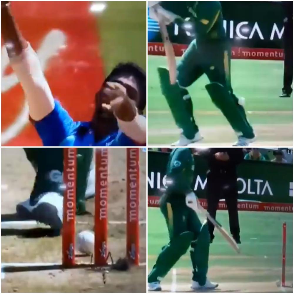 वीडियो : 1.1 ओवर पर स्टम्प पर गेंद लगने के बाद भी अम्पायर ने नहीं दिया क्विंटन डी कॉक को आउट, देखते रह गये धोनी और कोहली 36
