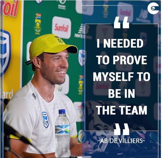 ऑस्ट्रेलिया के खिलाफ शतकीय पारी खेलने के बाद एबी डिविलियर्स ने खोला राज, बताया क्यों जरूरी था ये शतक 6