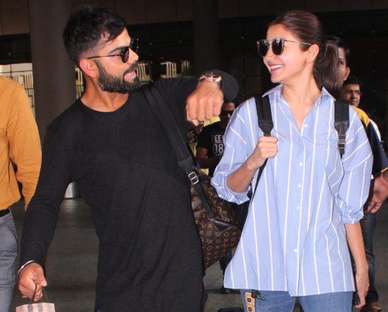 """परी"" को रिसीव करने मुंबई एयरपोर्ट पहुंचे विराट कोहली"