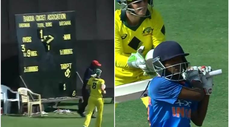 VIDEO: इस खिलाड़ी ने लगाया ऐसा छक्का की बिखर गया पूरा स्कोरबोर्ड, शॉट देख आप भी हो जायेगे इस भारतीय खिलाड़ी के फैन