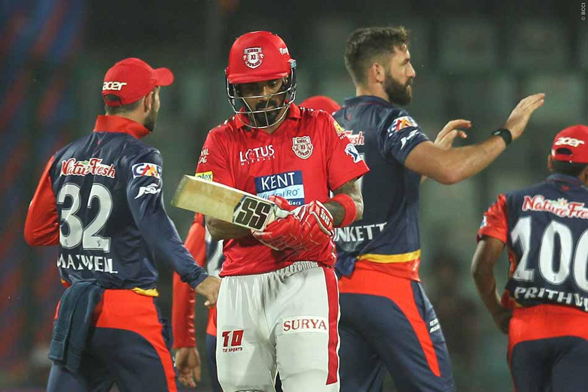 मैच रिपोर्टः गेल के बगैर उतरी पंजाब हुई धराशयी,दिल्ली को जीत के लिए 144 रनों का लक्ष्य 1
