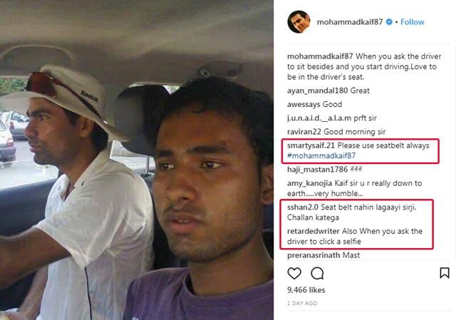ड्राईवर को बगल में बैठा गाड़ी चलाते हुए तस्वीर शेयर करना मोहम्मद कैफ को पड़ा महंगा, सोशल मीडिया पर लगी फटकार 5