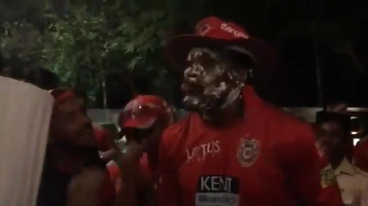 क्रिस गेल की आतिशी पारी के बाद किंग्स इलेवन पंजाब के खिलाड़ियों, सहवाग और प्रीटी जिंटा ने इस तरह मनाया जश्न 6