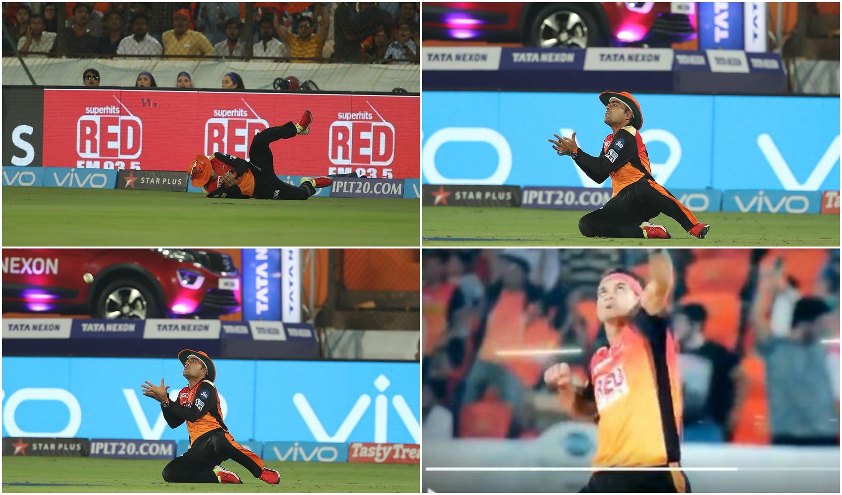 VIDEO: 6.5 ओवर पर राशिद खान ने लिया अजिंक्य रहाणे का शानदार कैच तो ये क्या कर बैठे गेंदबाज सिद्धार्थ कौल 36