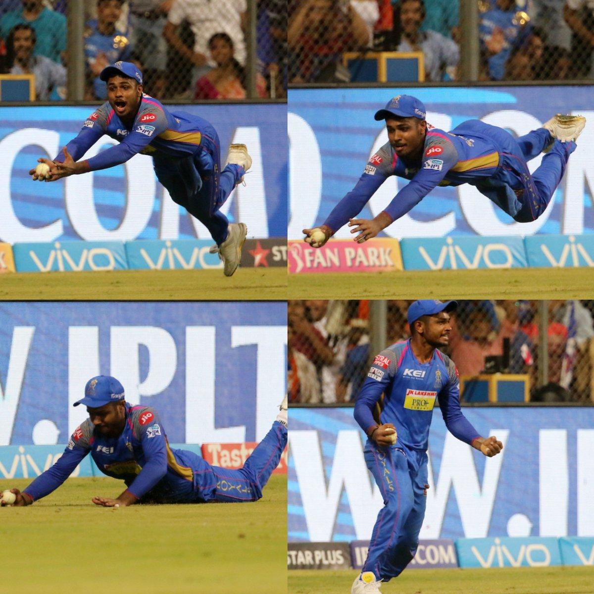 विडियो: एक बार फिर से मैदान में सुपरमैन बने संजू सैमसन, लिया हैरान कर देना वाला कैच 14