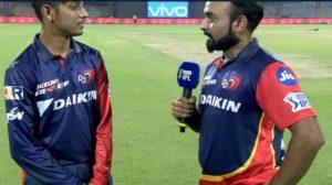 """Delhi Dareevils bowler Sandeep said :so happy to beat MI"""""""