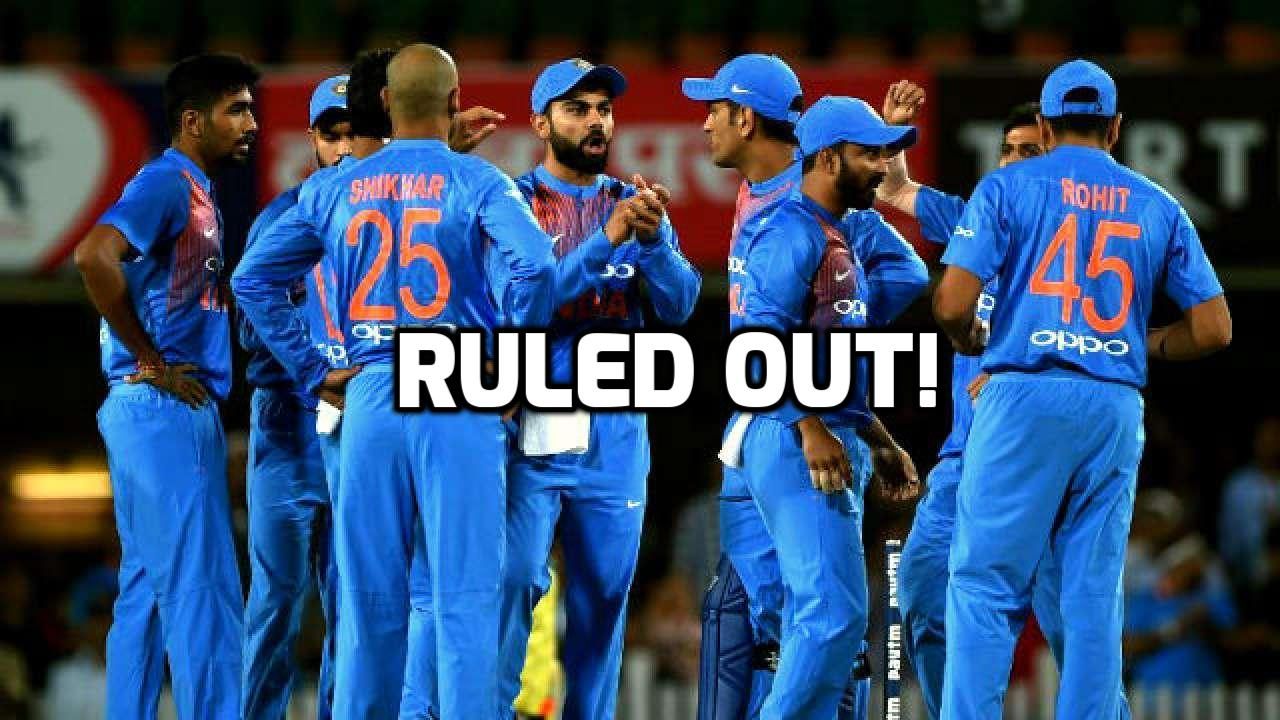 इंजरी नहीं छोड़ रही टीम इंडिया का पीछा चोटिल होकर दुसरे टी-20 से बाहर हुए ये 2 भारतीय खिलाड़ी 3