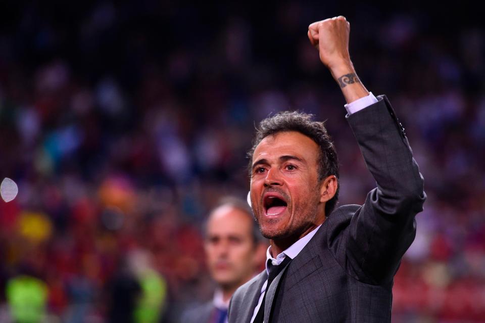 Former Barcelona coach Enrique Spain coach