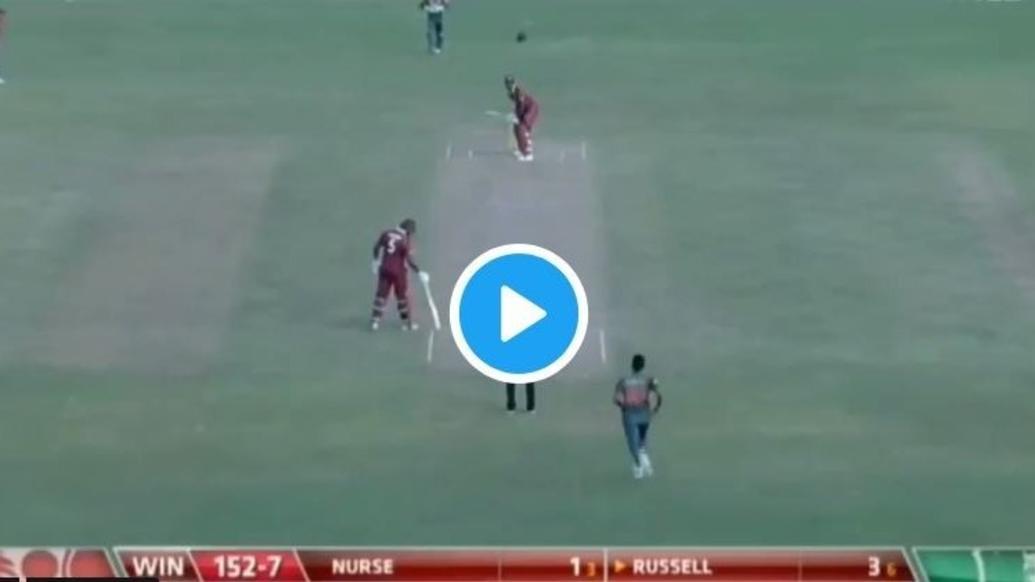 VIDEO: रसेल ने मारा 104 मीटर लम्बा छक्का खो गयी गेंद फिर अम्पायर ने किया कुछ ऐसा हैरान रह गये लोग 9