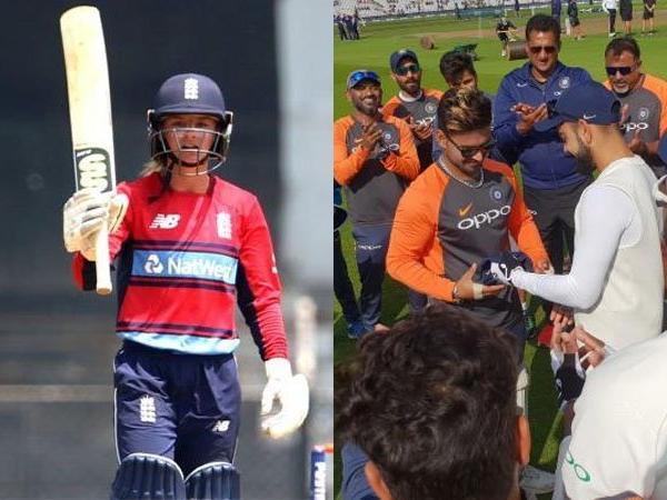 ENG vs IND: टेस्ट टीम में ऋषभ पन्त को मिली जगह तो डेनियल वायट ने एक शब्द में बना दिया महान 64