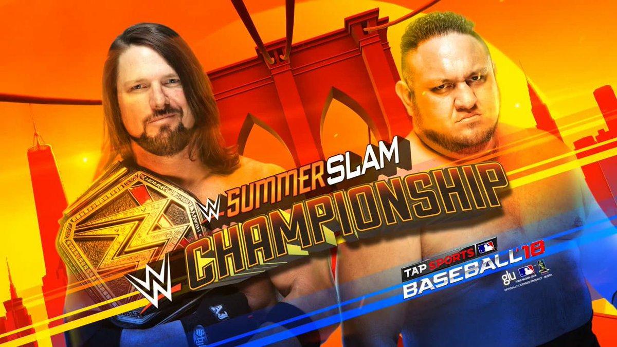 SUMMER SLAM: WWE चैम्पियनशिप: एजे स्टाइल्स और समाओ जो के बीच चैम्पियनशिप मैच ड्रामे के साथ हुआ खत्म, नहीं निकला कोई परिणाम 9