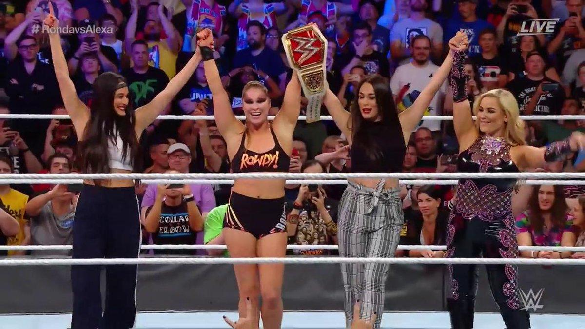 SUMMER SLAM: RAW WOMEN CHAMPIONSHIP: WWE को मिला नया वुमेन्स रॉ चैम्पियन, ब्लिस ने गंवाया टाइटल बेल्ट 7