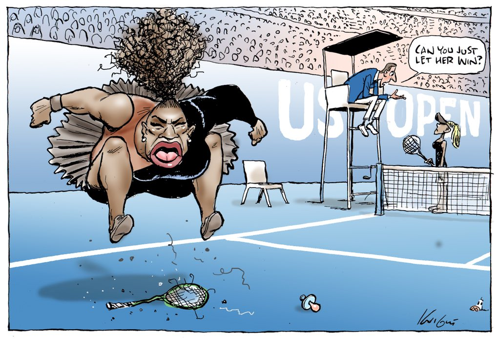 The Australian newspaper then printed Serena cartoon