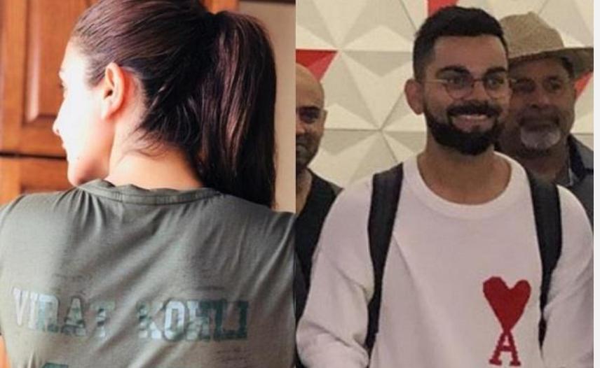 विराट ने पहनी अनुष्का शर्मा के नाम की टी-शर्ट, सोशल मीडिया पर तेजी से हो रही वायरल 1