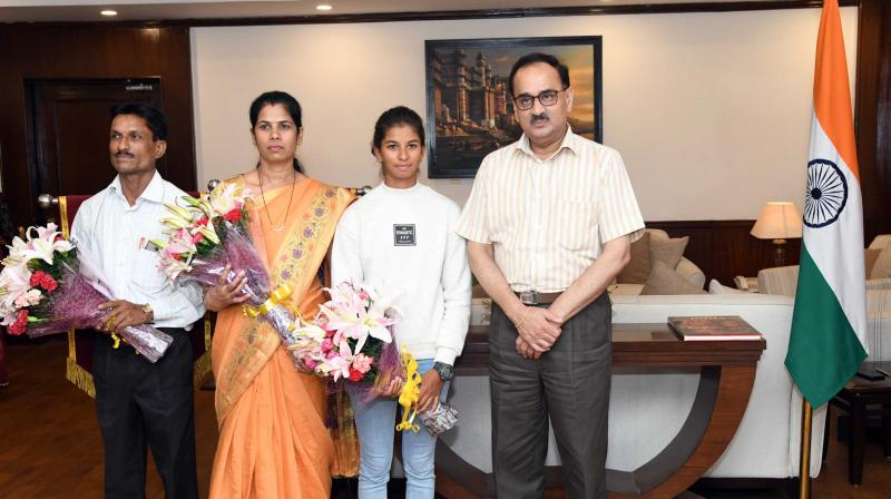 CBI chief honored the medal winner Harshita