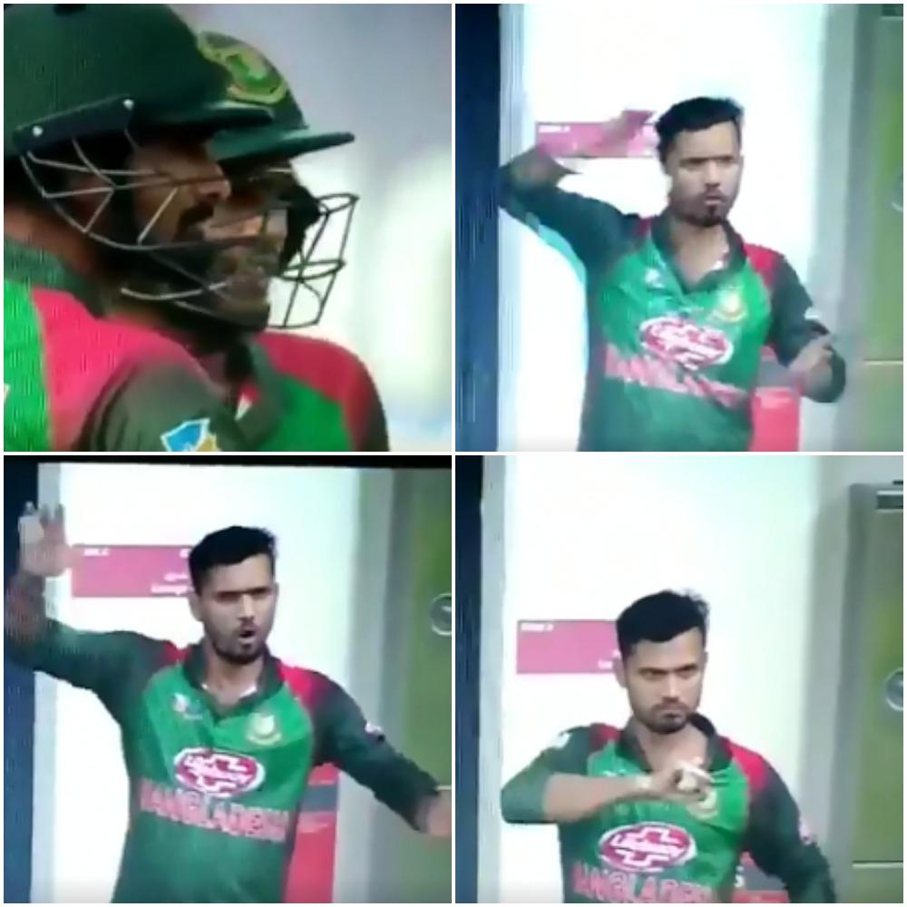 बांग्लादेश के कप्तान मशरफे मुर्तजा ने लिटन दास को अर्द्धशतक के बाद इशारे में दिया था ये मैसेज