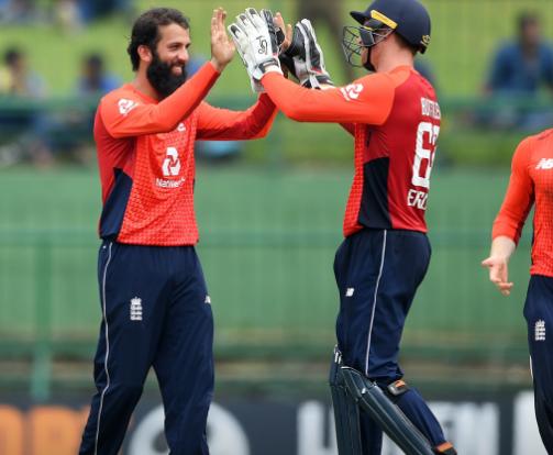 डकवर्थ लुईस नियम के अनुसार, इंग्लैंड की श्रीलंका पर 18 रनों की जीत