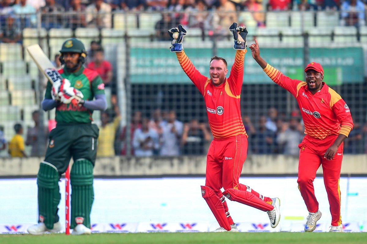 पहले वन डे मैच में बांग्लादेश ने जिम्बाब्वे को 42 रनों से हराया 52
