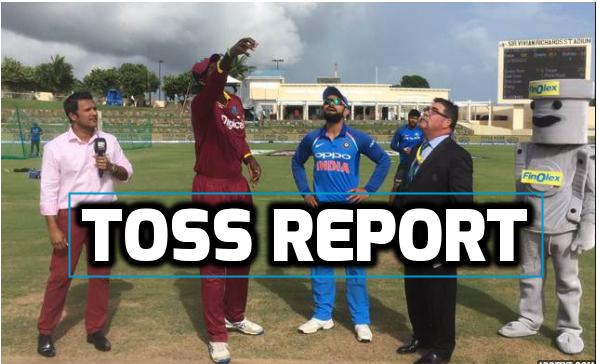 INDvsWI : टॉस रिपोर्ट : भारत ने टॉस जीत चुनी बल्लेबाजी, इस खिलाड़ी की जगह कुलदीप यादव की हुई टीम में वापसी 18