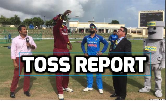 INDvsWI : टॉस रिपोर्ट : भारत की टीम ने टॉस जीत चुनी गेंदबाजी, भारतीय टीम में हुए तीन बड़े बदलाव 9