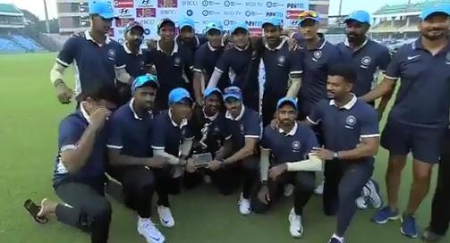 देवधर ट्रॉफी: ईशान किशन और रहाणे की शतकीय पारी से इंडिया सी ने इंडिया बी को 29 रनों से हराकर ख़िताब पर किया कब्जा 9