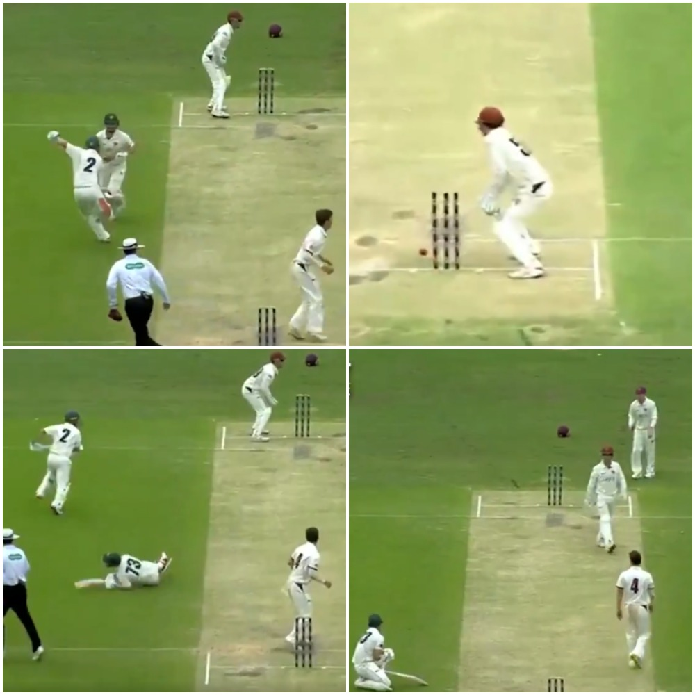 वीडियो : अजहर अली की तरह यह ऑस्ट्रेलियाई खिलाड़ी भी अजीबोगरीब तरीके से हुआ रन आउट 27