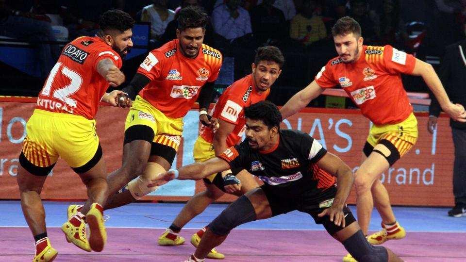 Pro kabaddi league: Draws from Bengaluru game Gujarat continues unbeaten order