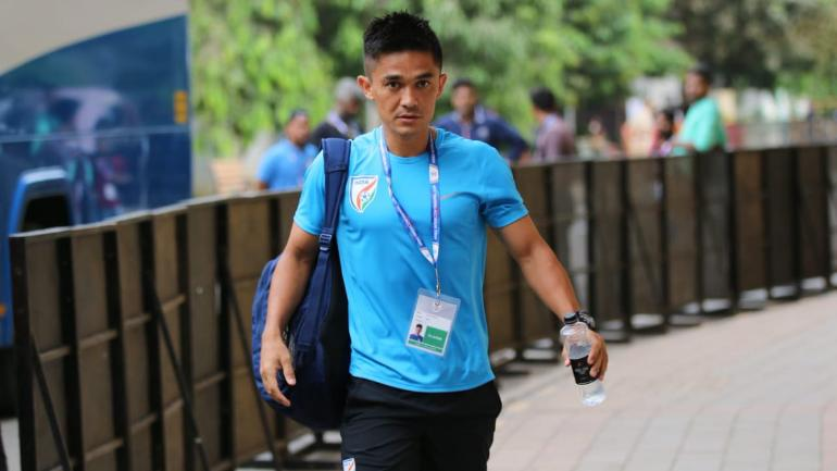 Chhetri out of the ground for 2 weeks due to an ankle injury