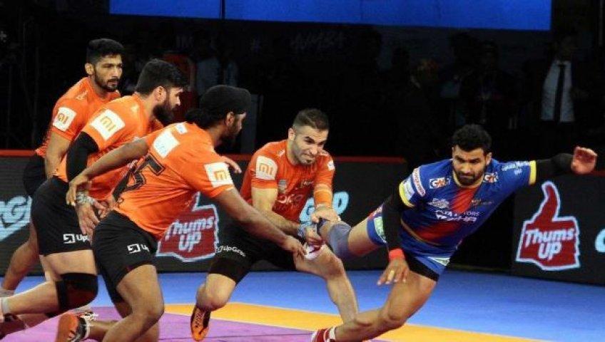 Pro Kabaddi League: Mumbai defeats UP