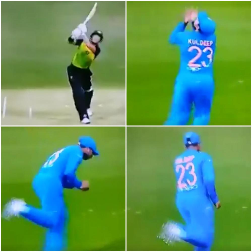 वीडियो: 4.1 गेंद पर कुलदीप यादव ने लपका शानदार कैच, फिर गेंद से किया ये कमाल
