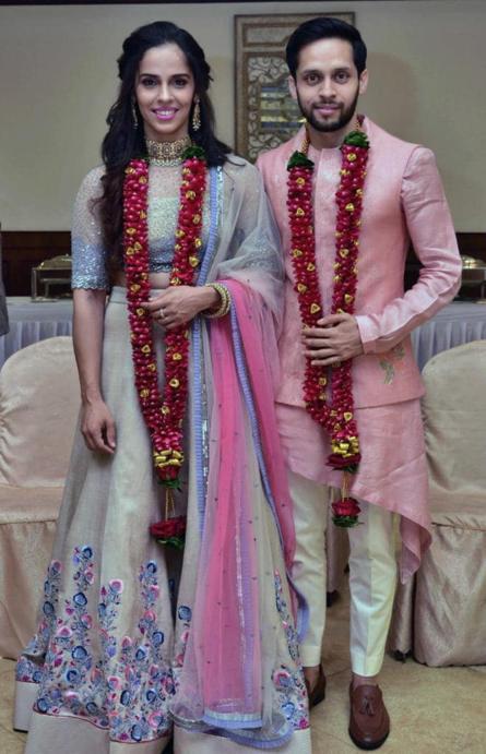 एक-दूजे के हुए साइना नेहवाल और पी. कश्यप, शादी की पहली तस्वीर आई सामने, देखें तस्वीरें 1